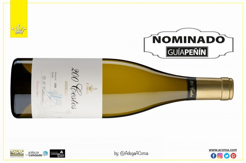 The Godello A Coroa nominated wine revelation of the year by Guía Peñín.