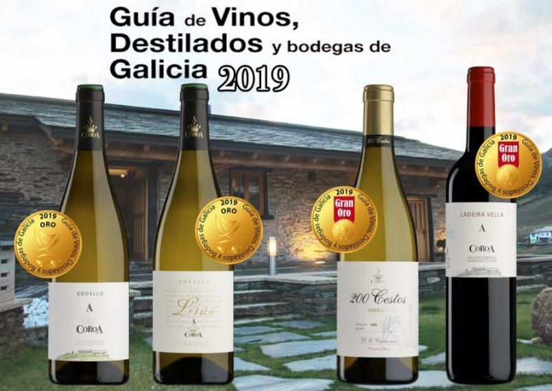"""RAIN OF GOLD FOR A COROA WINES IN """"THE GUIDE OF WINES, SPIRITS AND WINERIES OF GALICIA 2019"""""""