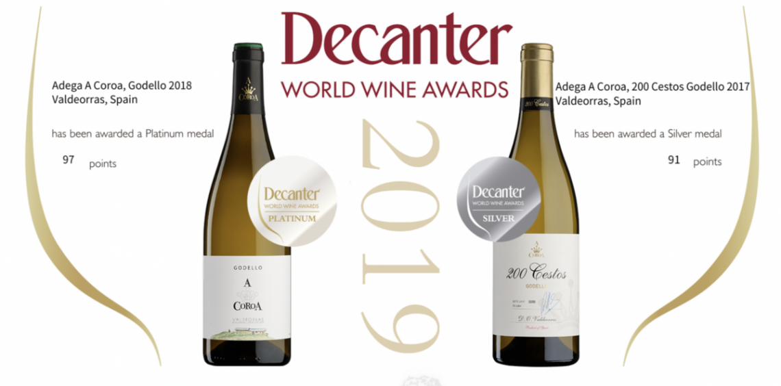 The Decanter World Wine Awards, considered the most influential wine contest at the international sector, grants the Platinum Medal to the Godello A Coroa 2018