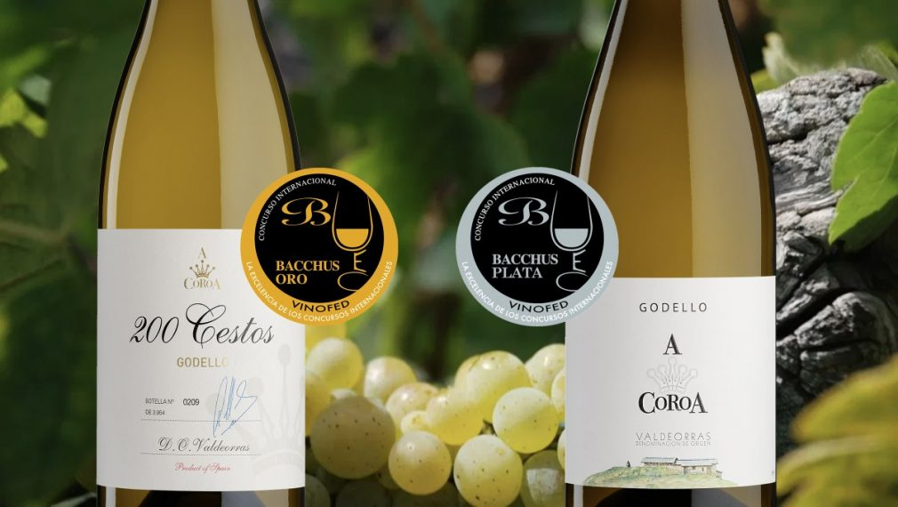 Great recognition at the Bacchus Awards for A Coroa 200 Cestos and A Coroa 100% Godello.
