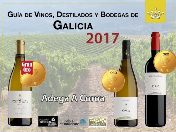 Dos medallas de Oro y un Gran Oro para los vinos de A Coroa