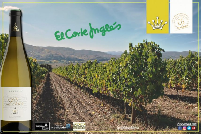 Los vinos de Adega A Coroa estarán presentes en la sección del Club del Gourmet de los centros El Corte Inglés