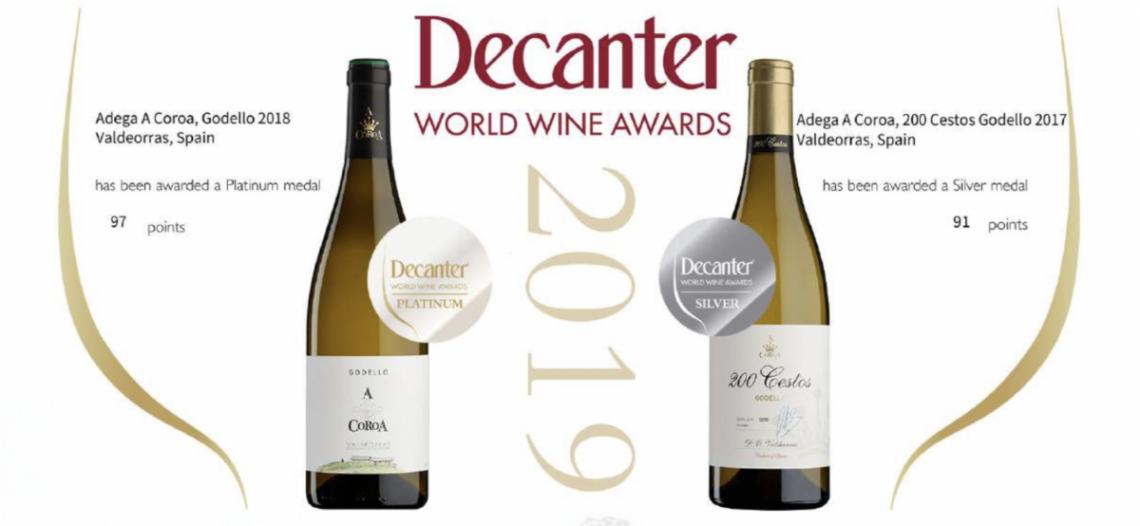 "Decanter World Wine Awards, considerado el certamen de vinos con mayor influencia a nivel mundial, otorga a ""A Coroa Godello 2018"" su medalla de Platino"