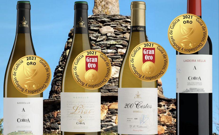 Lluvia de oros en «la Guía de Vinos, Bodegas y Destilados de Galicia 2021»